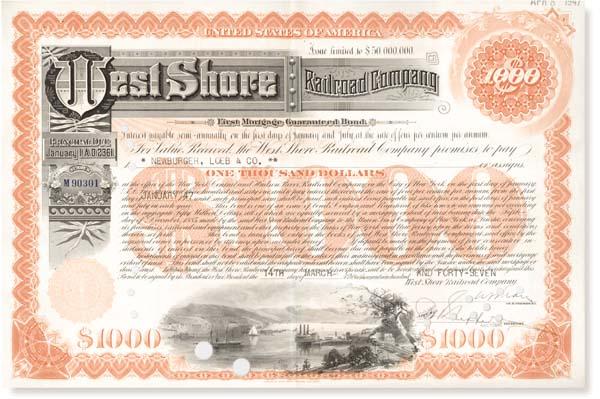 West Shore Railroad Company - Bond