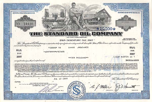 Standard Oil - Bond - SOLD