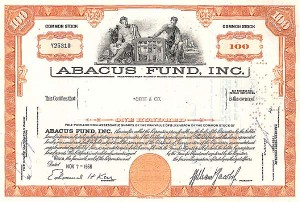 Abacus Fund Incorporated - Stock Certificate
