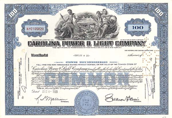 Carolina Power and Light Company