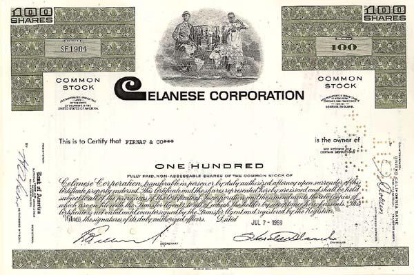 Celanese Corporation - Stock Certificate