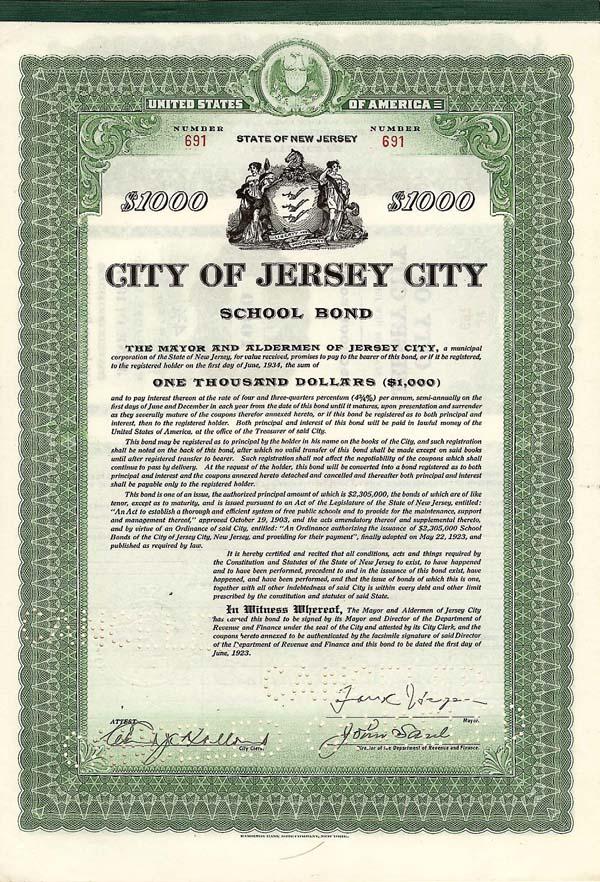 City of Jersey City - Bond