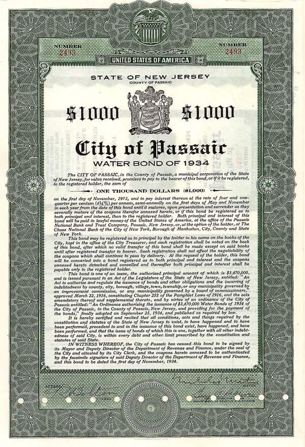 City of Passaic, NJ - Bond