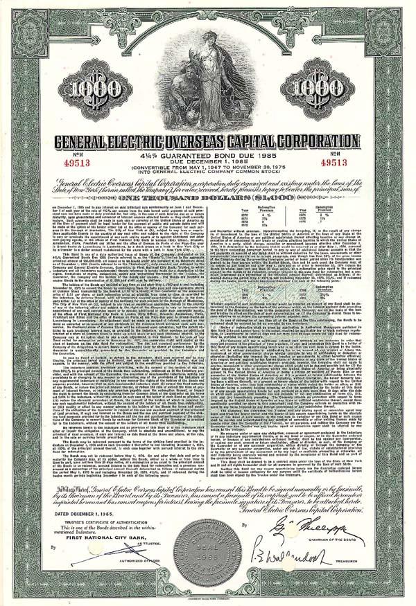 General Electric Overseas Capital Corp - Bond