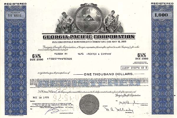 Georgia-Pacific Corporation - Bond