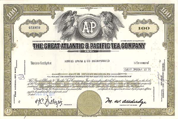 Atlantic and Pacific Tea Company - The Great A & P