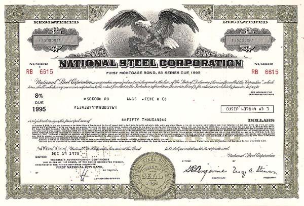 National Steel Corporation - Bond