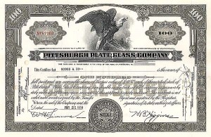 Pittsburgh Plate Glass Co - Stock Certificate