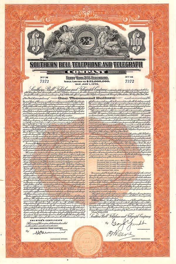 Southern Bell Telephone & Telegraph Company - Bond