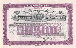 State of New York - Loan For Canal Improvement Bond
