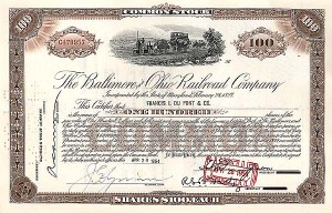 Baltimore & Ohio Railroad Stock
