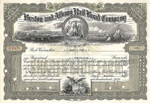 Boston and Albany Railroad Company - Stock Certificate