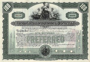 Boston Railroad Holding Company - Stock Certificate