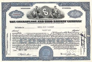 Chesapeake & Ohio Railway Company - Stock Certificate