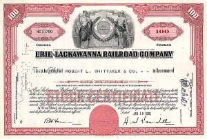 Erie-Lackawanna Railroad Company - Stock Certificate
