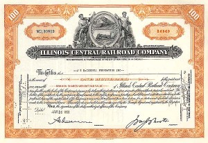 Illinois Central - Stock Certificate