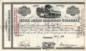 Little Miami Railroad Company - Stock Certificate