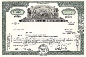 Missouri Pacific Railroad - Stock Certificate