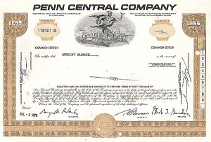 Penn Central Company - Stock Certificate