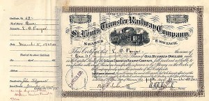 St. Louis Transfer Railway Company - Stock Certificate