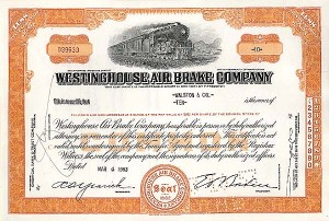 Westinghouse Air Brake Company - Stock Certificate