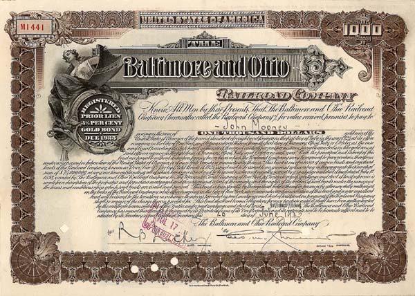 Baltimore & Ohio Railroad - Bond