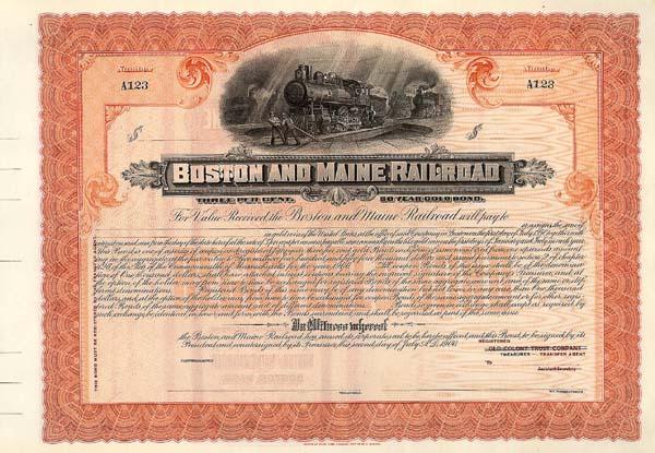 Boston & Maine Railroad - Bond