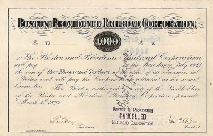 Boston and Providence Railroad Corporation Bond
