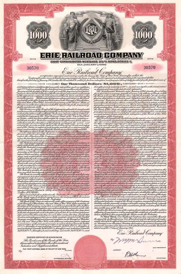 Erie Railroad - Bond