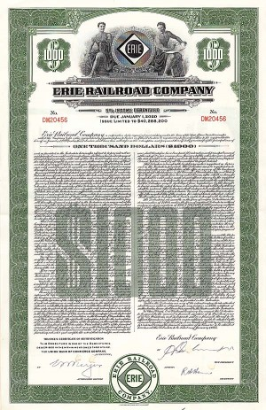 Erie Railroad Company - Bond