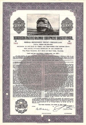 Northern Pacific Railway Eqipment Trust of 1956