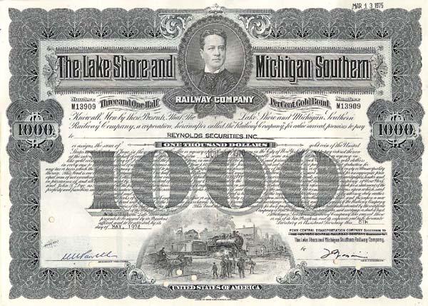 Lake Shore & Michigan Southern Railway - Bond