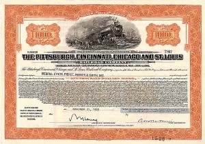 Pittsburgh, Cincinnati, Chicago and St. Louis Railroad Company - Bond