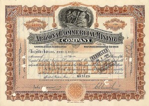 Arizona Commercial Mining Company - Stock Certificate