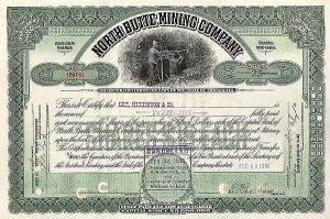 North Butte Mining - Stock Certificate