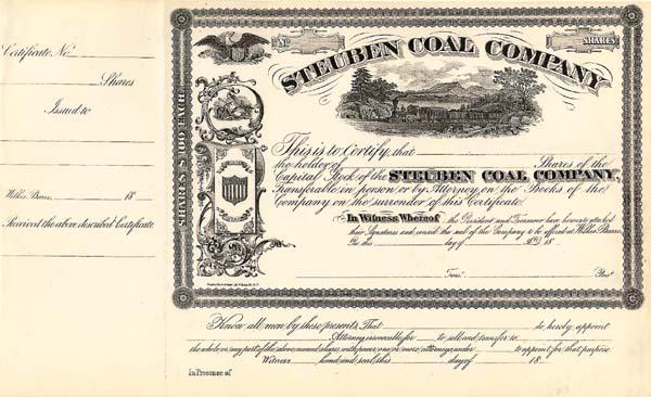 Steuben Coal - Stock Certificate