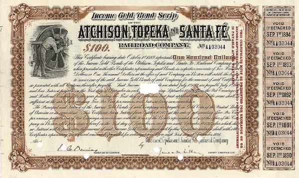 Atchison, Topeka & Santa Fe Railroad Company - Bond