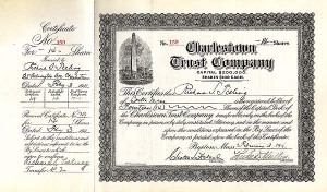 Charlestown Trust Company - Stock Certificate