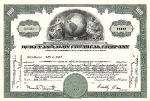 Dewey & Almy Chemical Company - Stock Certificate