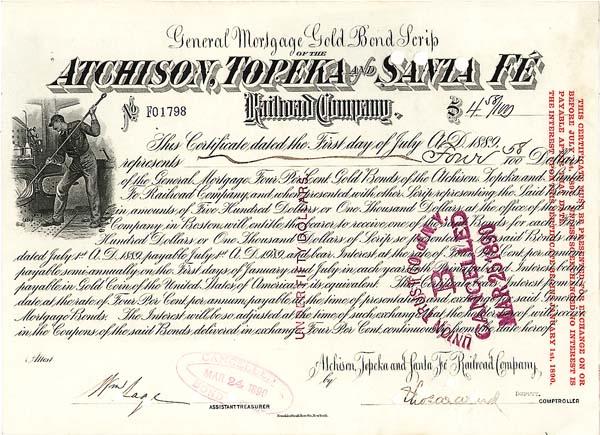 Atchison, Topeka & Santa Fe - Bond