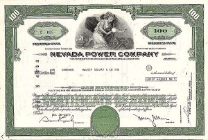 Nevada Power Company - Stock Certificate