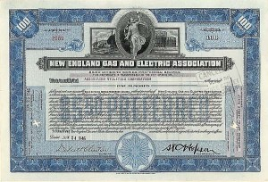 New England Gas & Electric Assn - Stock Certificate