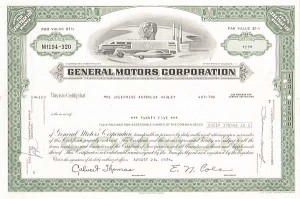 General Motors Corp - Stock Certificate
