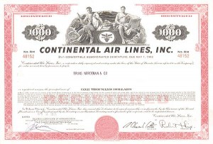 Continental Air Lines, Incorporated - Bond