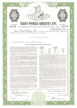 Trans World Airlines, Incorporated - Bond
