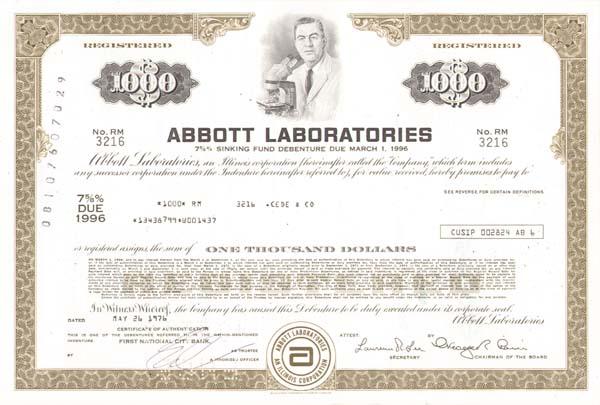 Abbott Laboratories - Bond