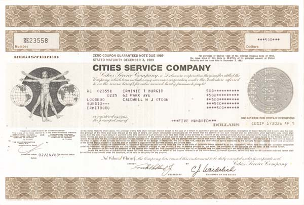 Cities Service - Bond