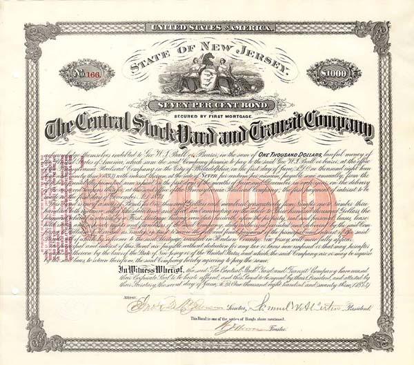 Central Stockyard and Transit Company - Bond