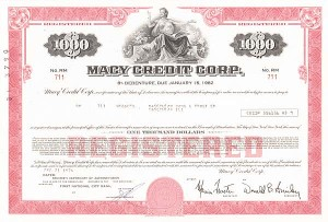 Macy Credit Corporation - Bond