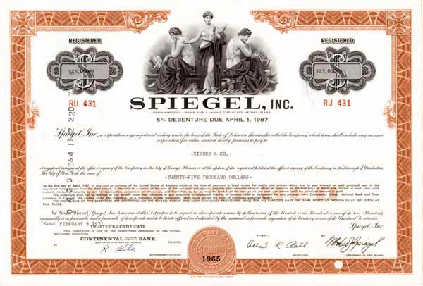 Spiegel, Inc - Bond